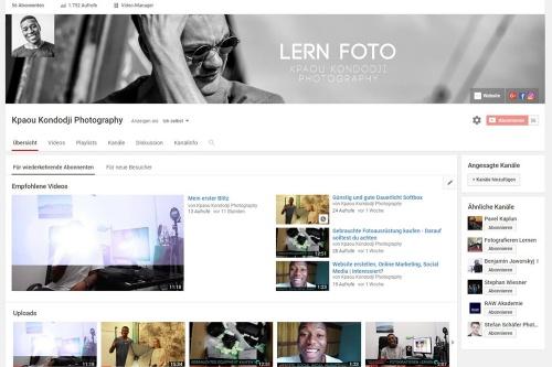 Kpaou Kondodji Photography Youtube Kanal Titelfoto